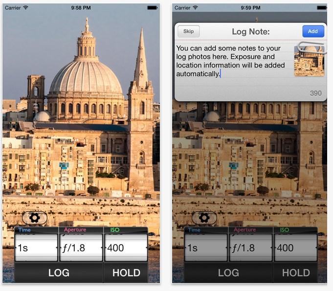 App für Fotografen Lightmeter