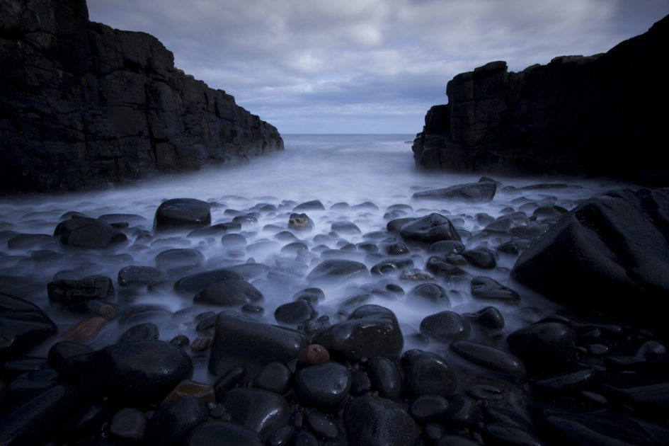 küstenlandschaft fotografieren wasser blurren
