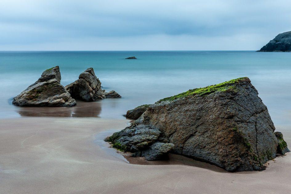 küstenlandschaftt fotografieren mit einem vordergrund