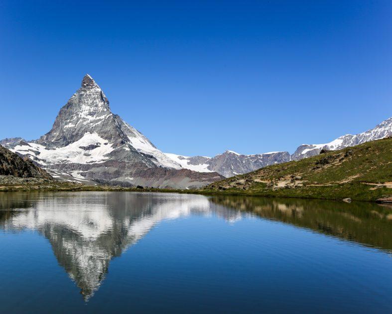 Berglandschaft Seespiegelung